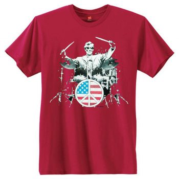 Abraham Lincoln Drummer Rock 101 T-Shirt