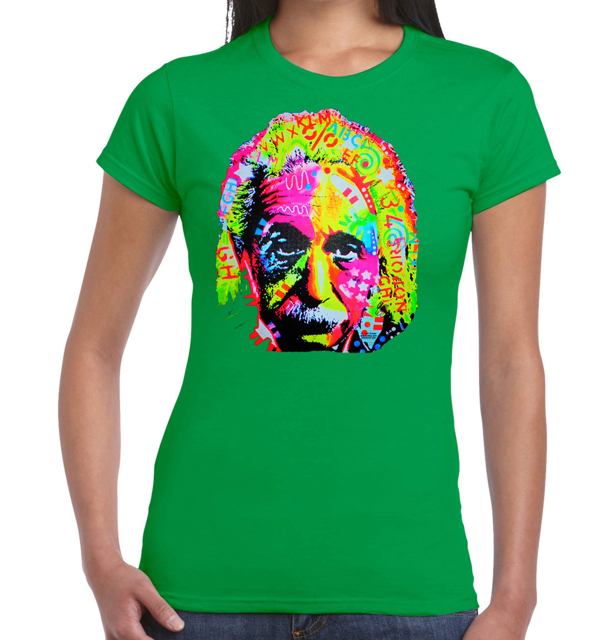 Albert Einstein Neon T-Shirt