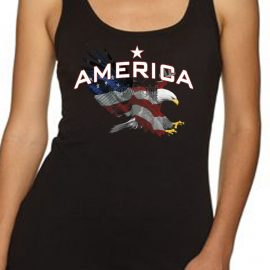 American Flag Eagle Women's Tank Top