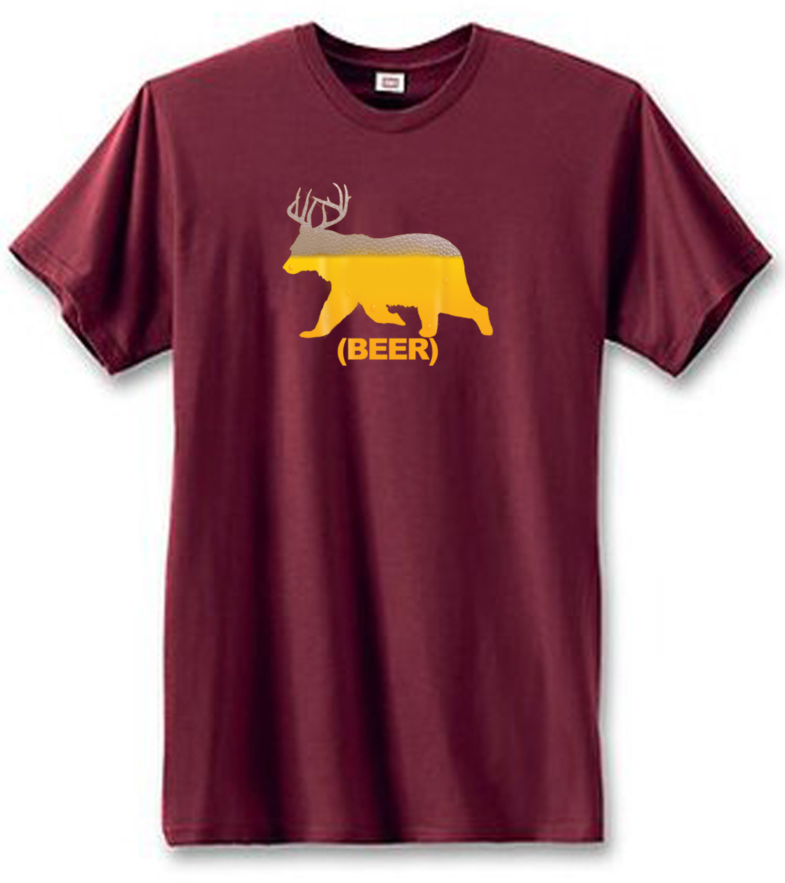 Beer Bear With Antlers Men's Short Sleeve T-Shirt