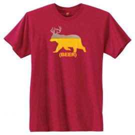 Beer Bear With Antlers T-Shirt