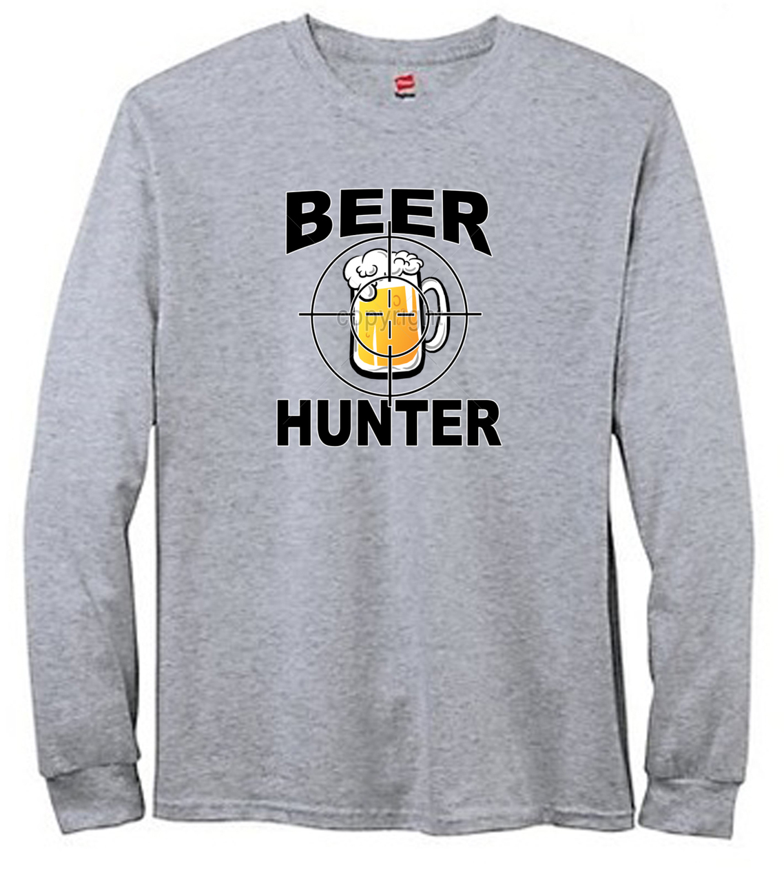Beer Hunter Mug Men's Long Sleeve T-Shirt