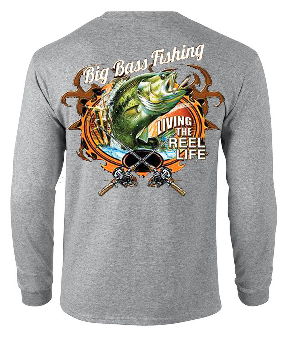Big Bass Fishing Men's Long Sleeve T-Shirt