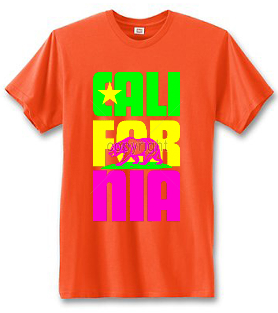 California Neon Bear T-Shirt