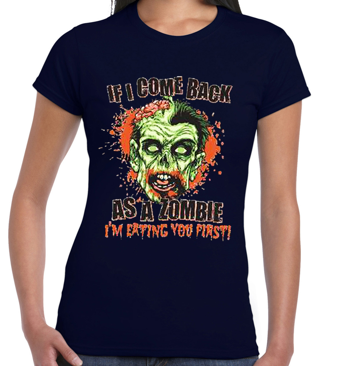 If I Come Back A Zombie I'm Eating You First Women's Tank Top