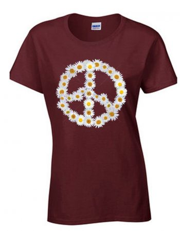Daisy Peace Sign T-Shirt