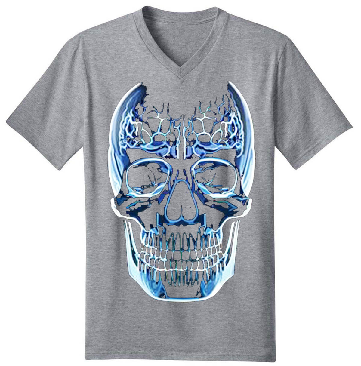 Glass Skull Men's V-Neck T-Shirt