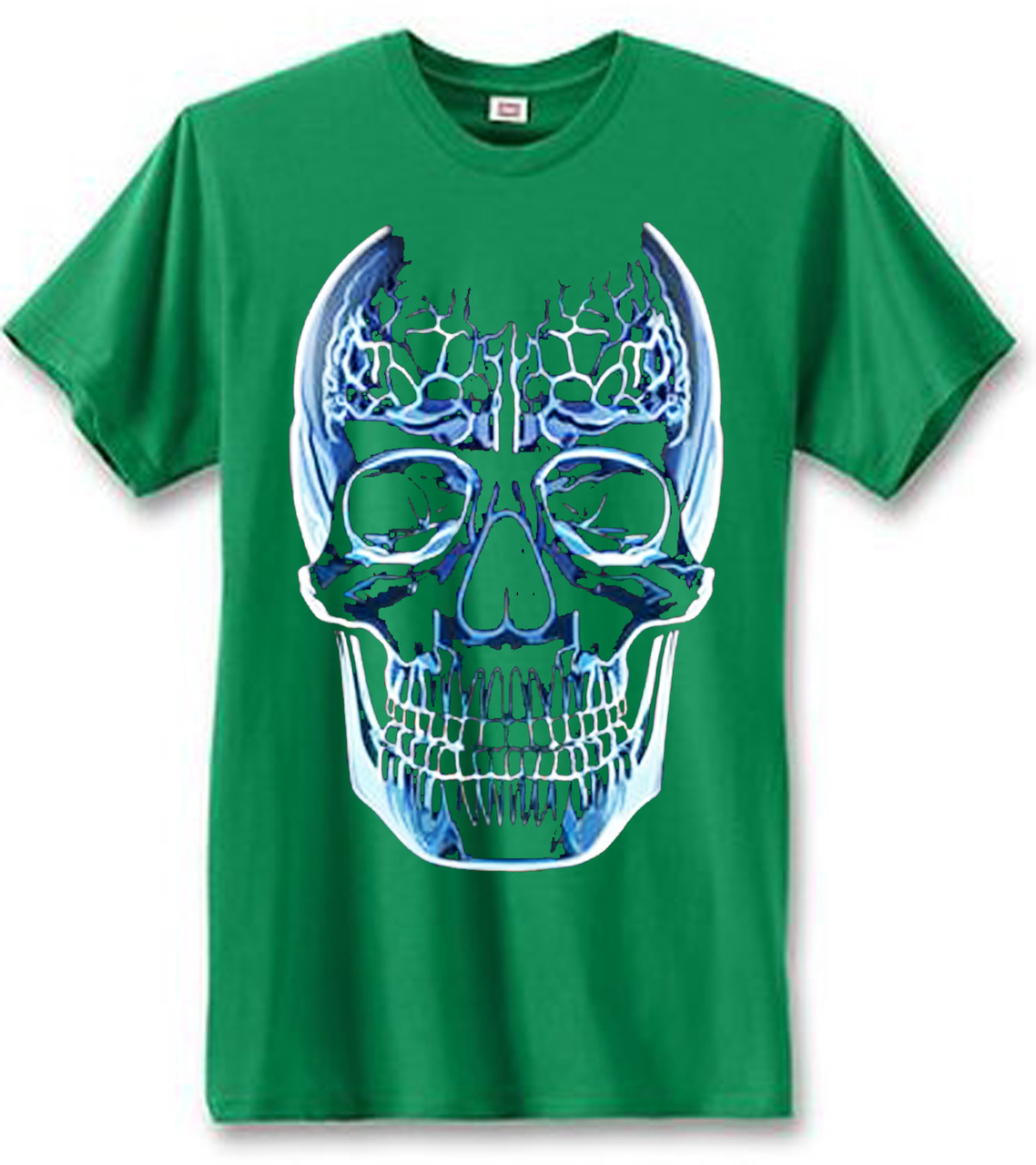 Glass Skull Men's Short Sleeve T-Shirt