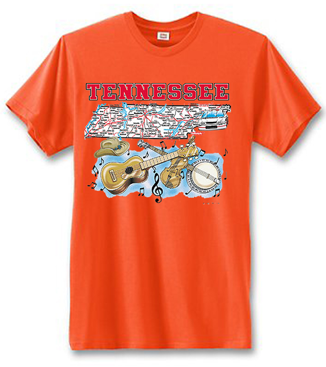Tennessee Country Music State Men's Short Sleeve T-Shirt