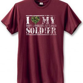 I Love My Soldier Camouflage Heart Men's Short Sleeve T-Shirt