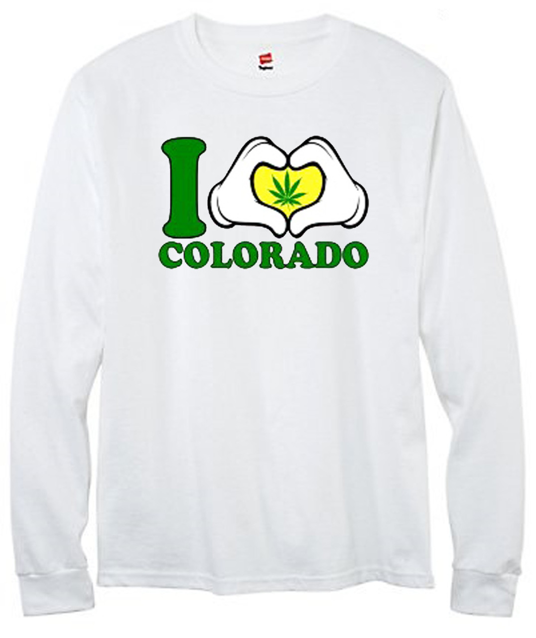I Love Colorado Weed Men's Long Sleeve T-Shirt