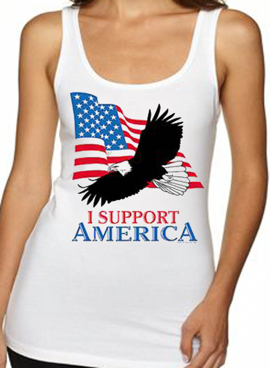 I Support America Eagle Women's Tank Top