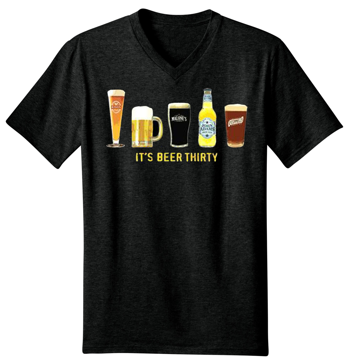 It's Beer Thirty Men's V-Neck T-Shirt