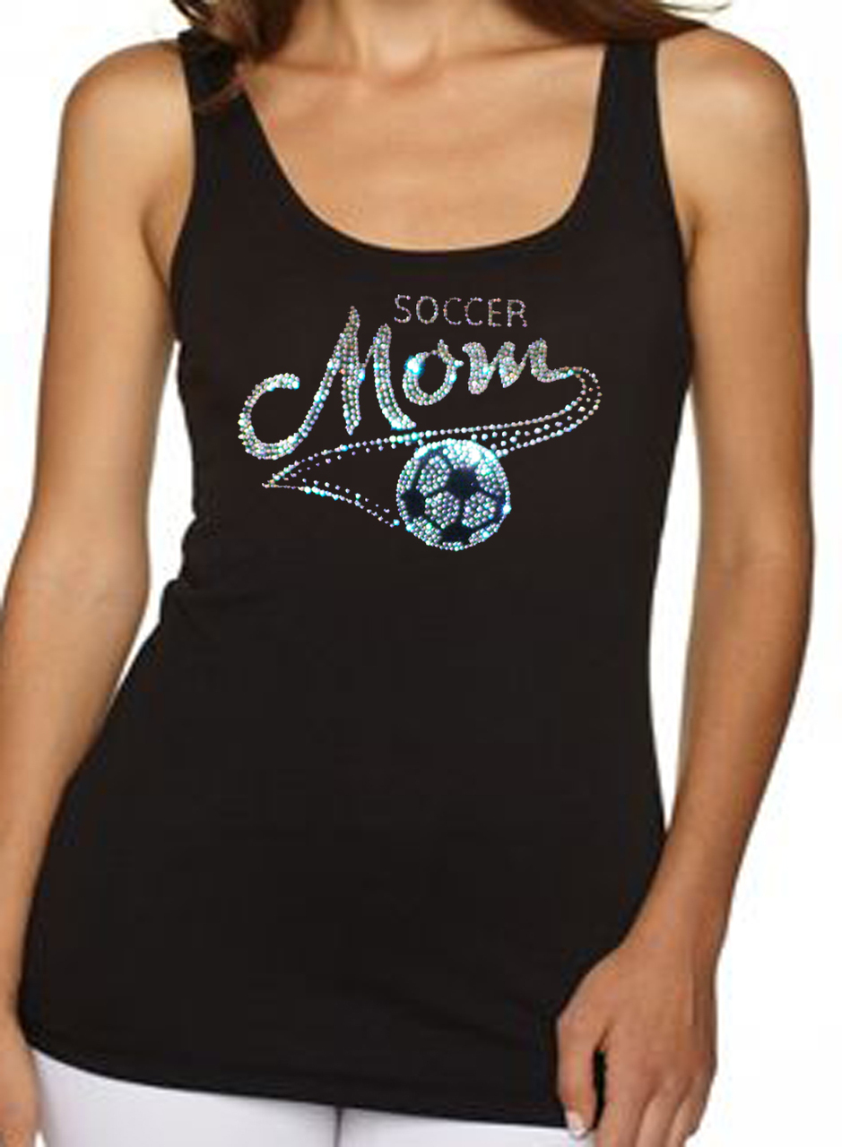 Soccer Mom Rhinestone Women's Tank Top