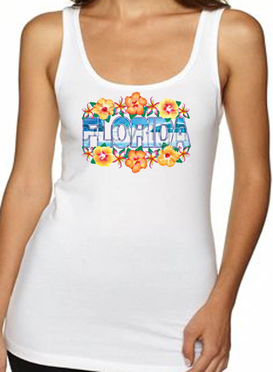 Florida With Flowers Women's Tank Top