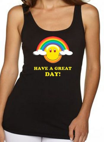 Have A Great Day Rainbow Smiley Face Women's Tank Top
