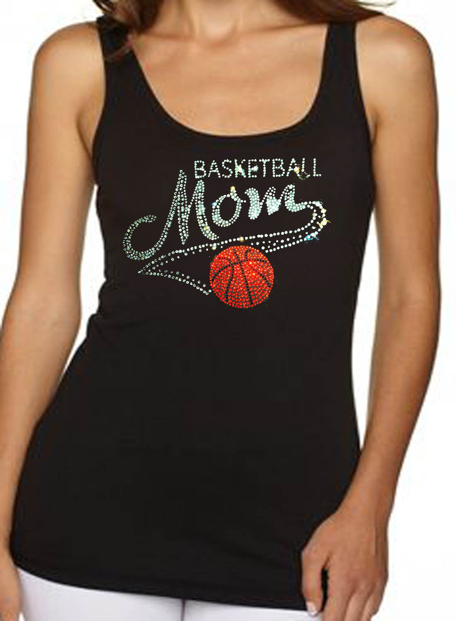 Basketball Mom Rhinestone Women's Tank Top
