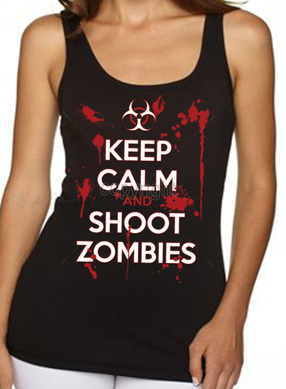 Keep Calm Shoot Zombies Women's Tank Top