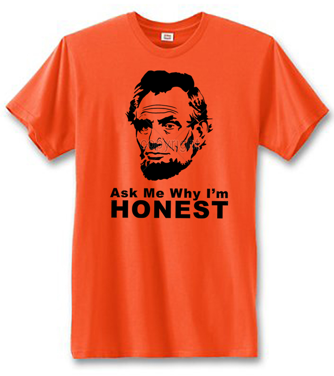 Lincoln Ask Me Why I'm Honest Men's Short Sleeve T-Shirt