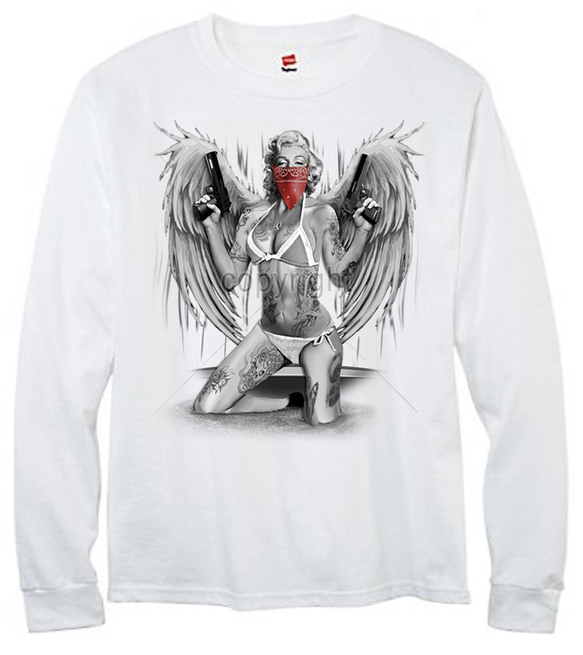 Marilyn Monroe Gangster With Wings T-Shirt