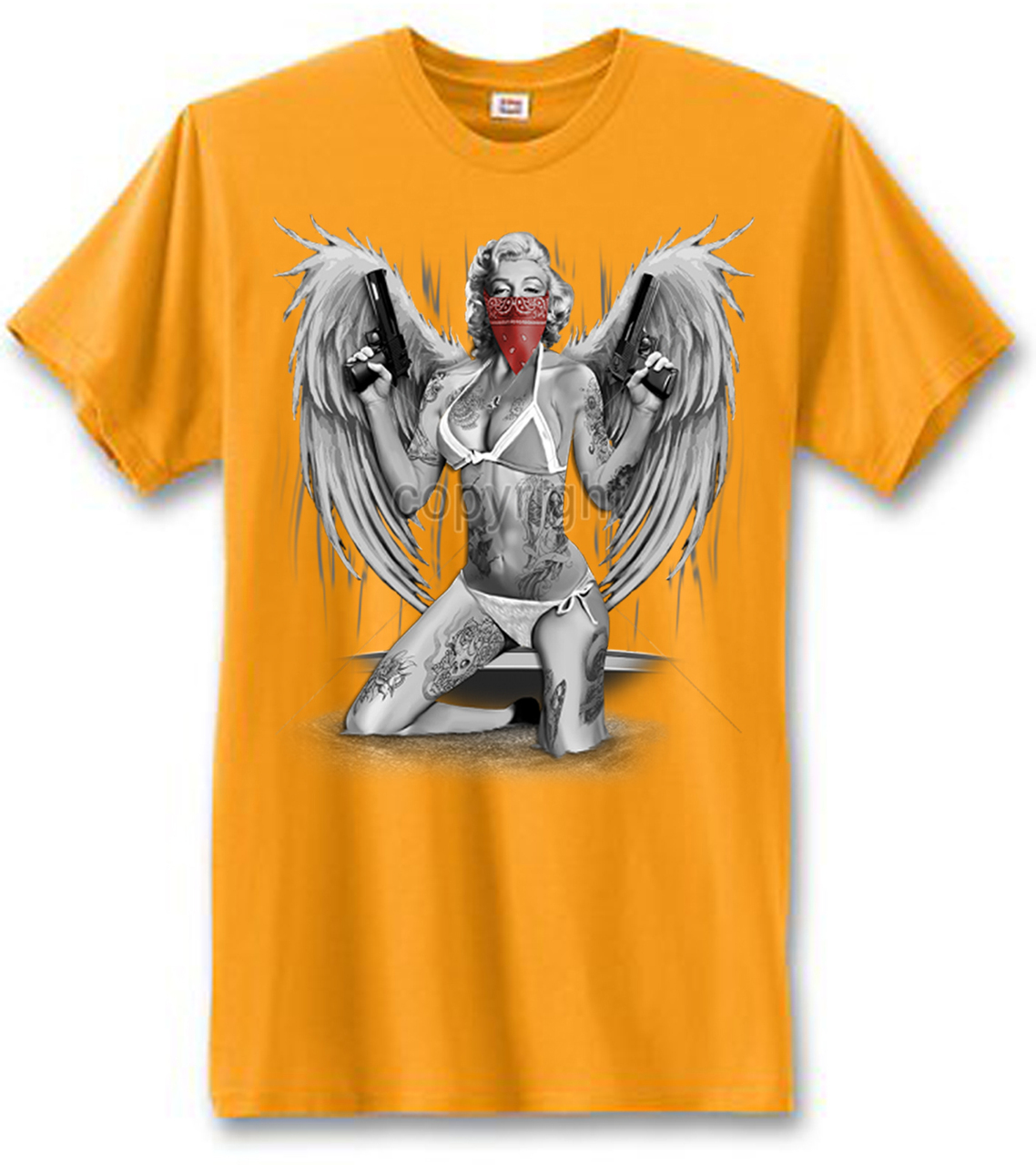 Marilyn Monroe Gangster With Wings Men's T-Shirt