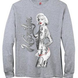 Marilyn Monroe Nude With Tattoos Men's Long Sleeve T-Shirt