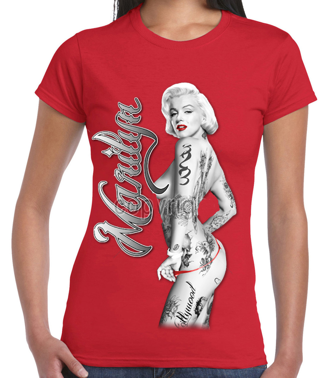 Marilyn Monroe Nude With Tattoos T-Shirt