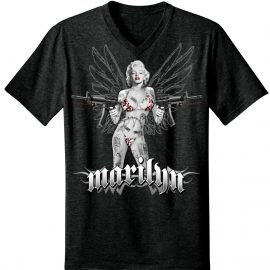Marilyn Monroe Laser Assault Rifle Men's V-Neck