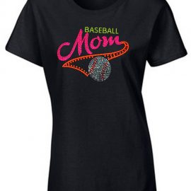 Baseball Mom Neon Rhinestone T-Shirt