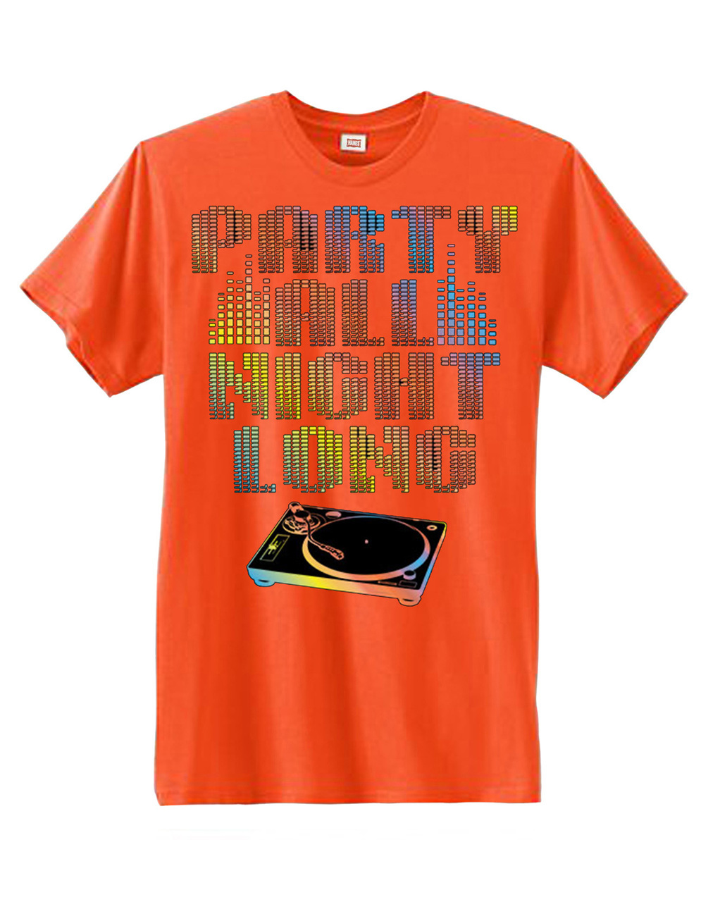 Party All Night Long DJ Neon Men's Short Sleeve T-Shirt
