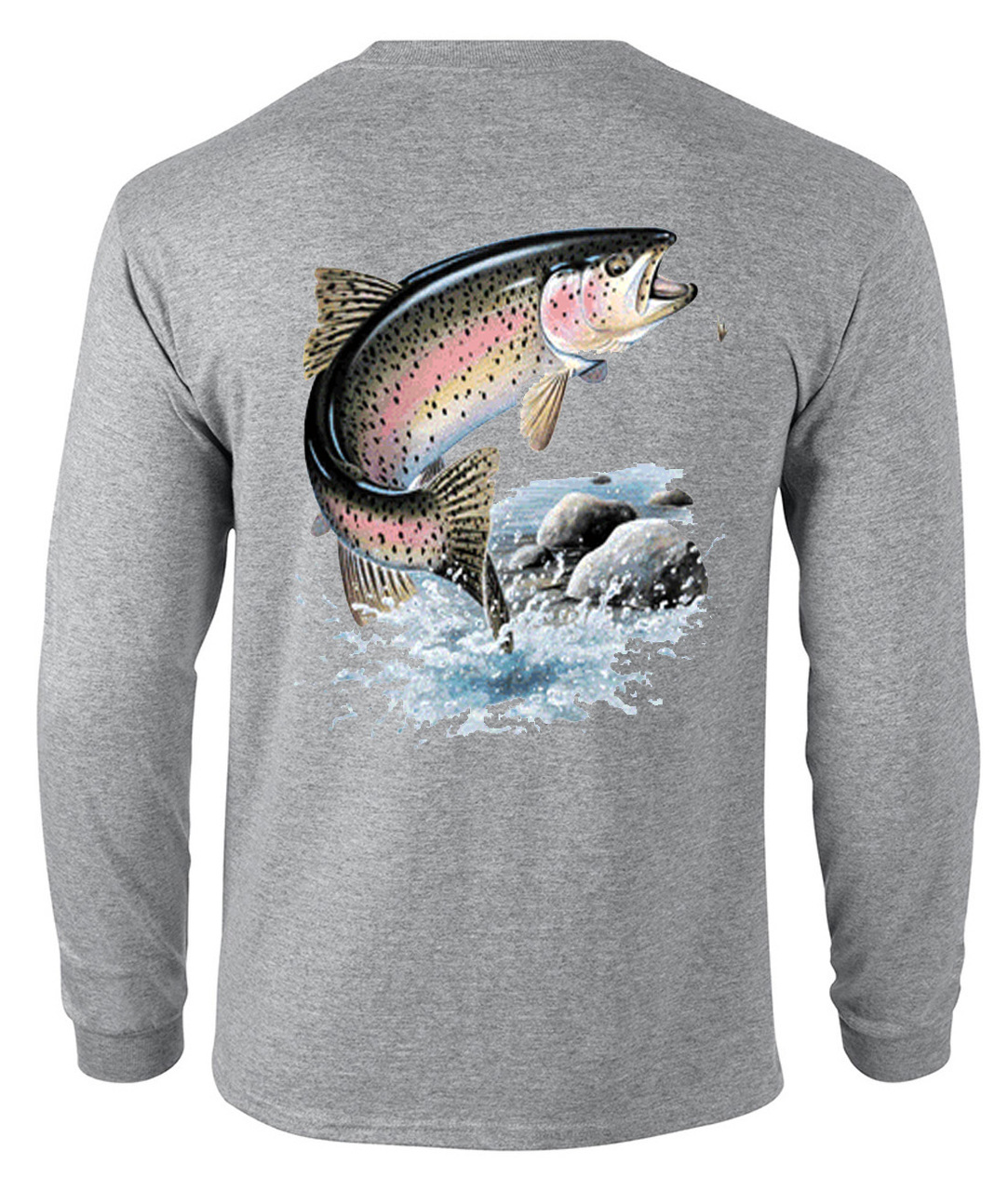 Rainbow Trout Fishing Men's Long Sleeve T-Shirt