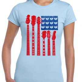 Red White and Blues Guitar Women's Short Sleeve T-Shirt