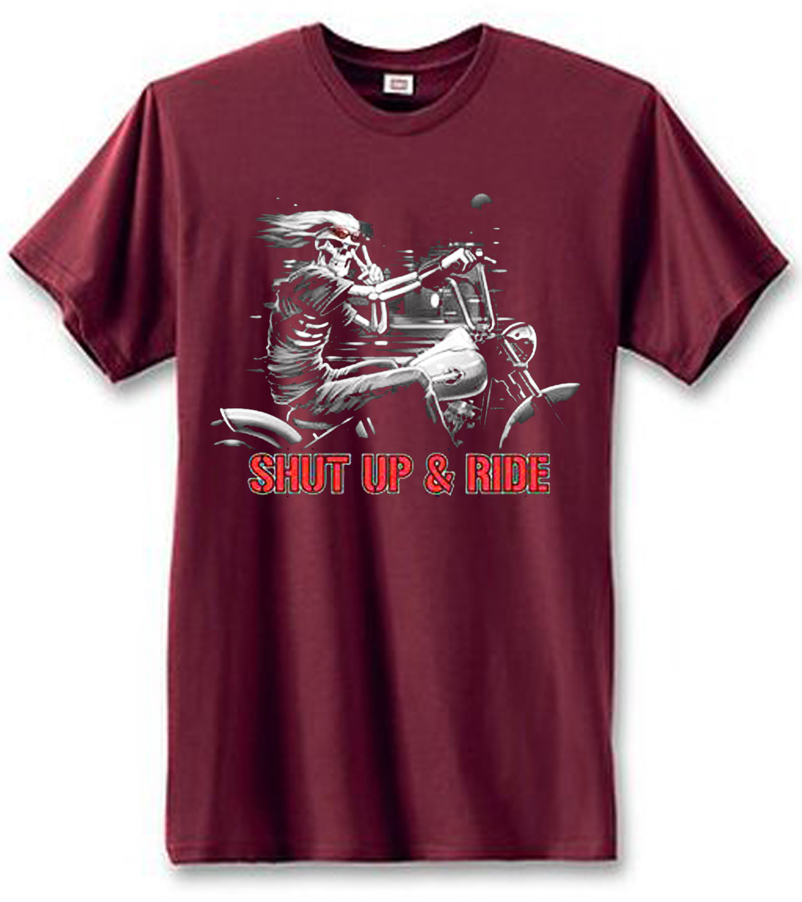 Shut Up & Ride Motorcycle Men's Short Sleeve T-Shirt