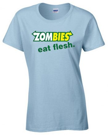 Zombies Subway Eat Flesh Women's Short Sleeve T-Shirt