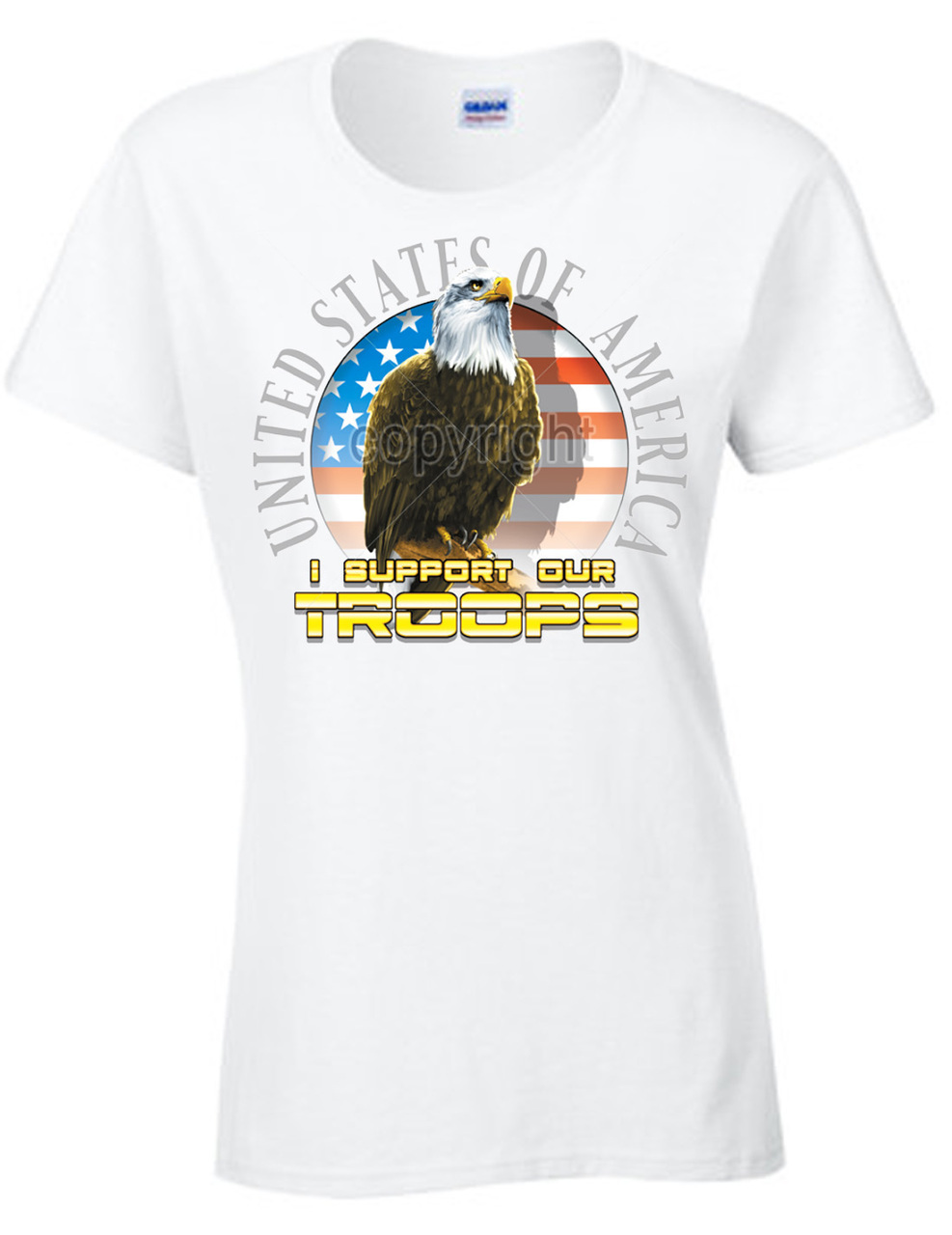 I Support Our Troops Eagle Women's Short Sleeve T-Shirt