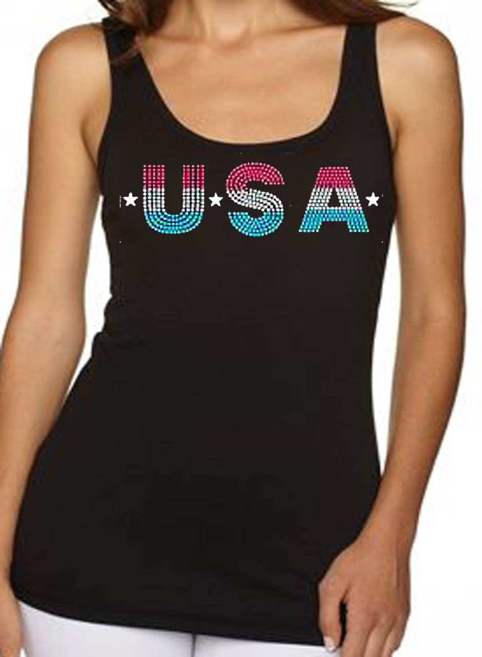 USA Glitter Women's Tank Top