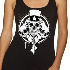Uncle Sam Skull Women's Tank Top