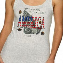 America One Nation Under God Women's Tank Top