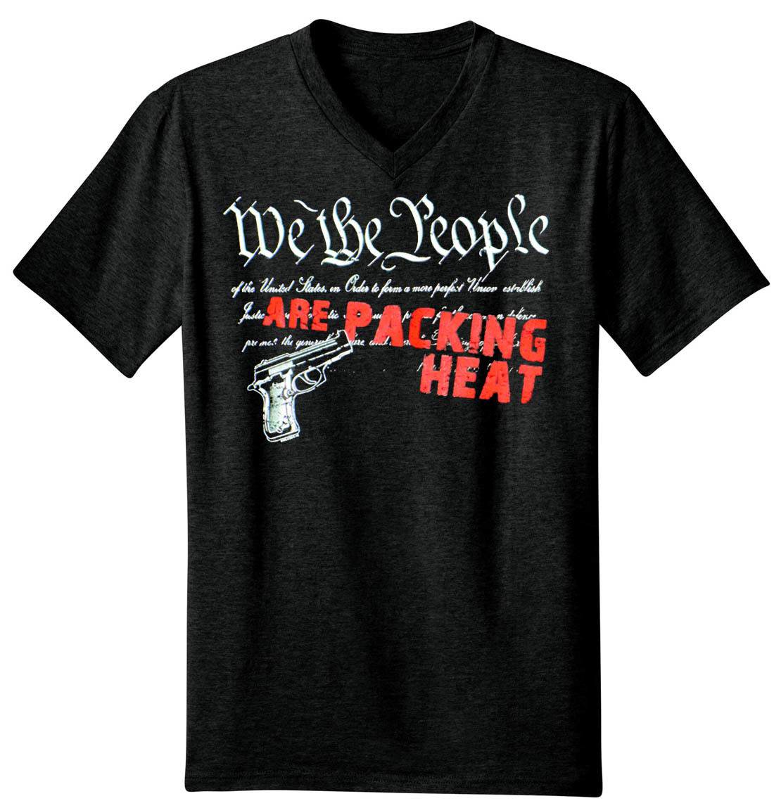 We The People Are Packing Heat Men's V-Neck T-Shirt