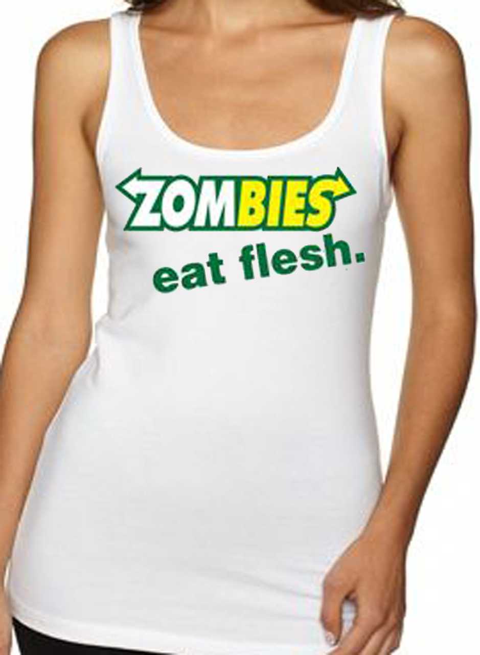 Zombies Subway Eat Flesh Women's Tank Top