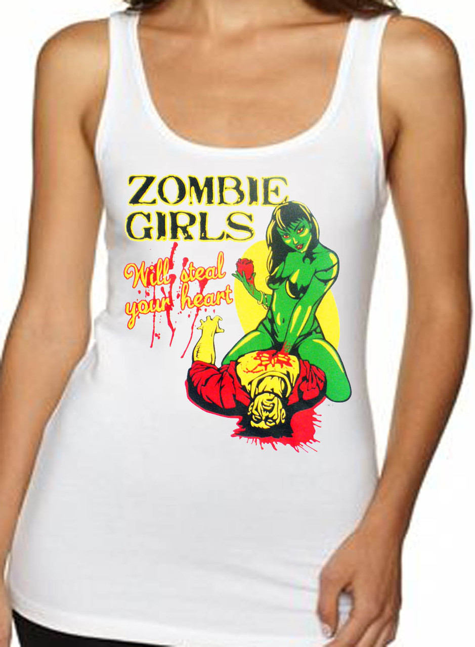 Zombie Girls Will Steal Your Heart Women's Tank Top
