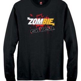 Zombies Eat Flesh Men's Long Sleeve T-Shirt