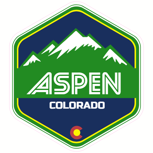 Aspen Colorado Snow Mountain Sticker | U.S. Custom Stickers