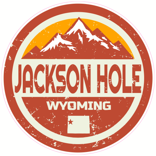 Jackson Hole Valley Wyoming Distressed Sticker | U.S. Custom Stickers