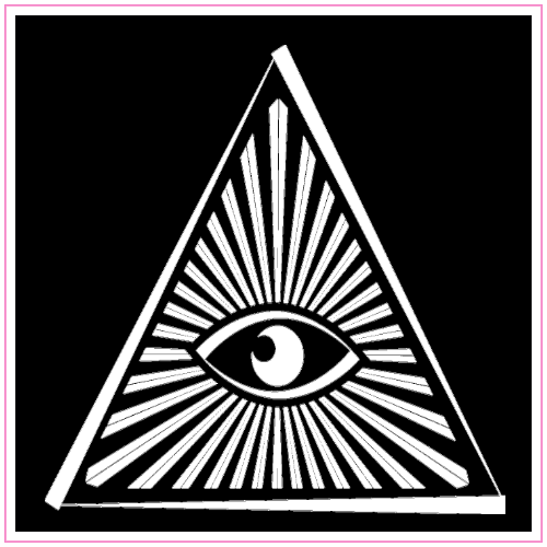 All Seeing Eye Triangle Sticker | U.S. Custom Stickers