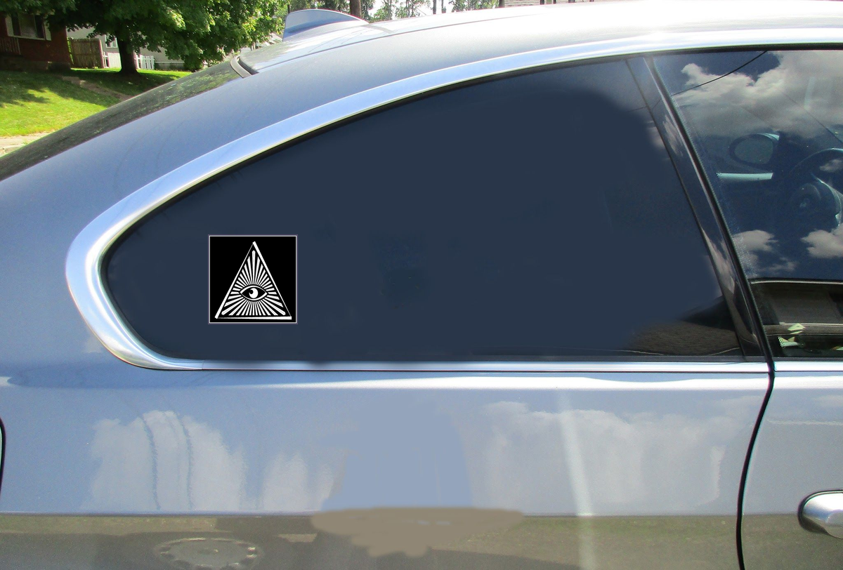 All Seeing Eye Triangle Sticker Car Sticker
