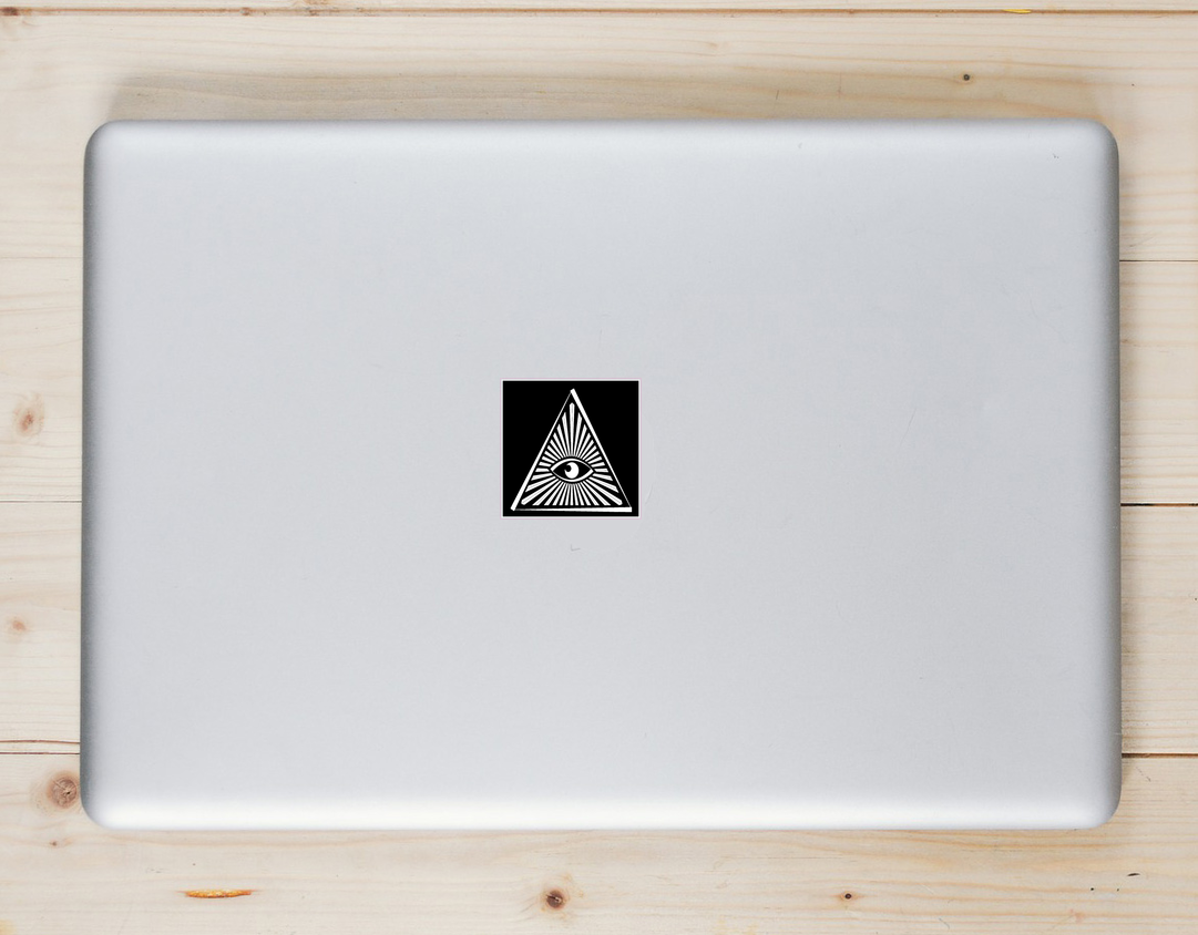All Seeing Eye Triangle Sticker Laptop Sticker