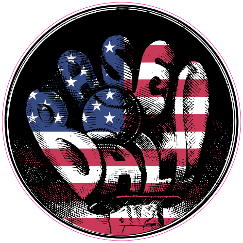American Baseball Sticker | U.S. Custom Stickers