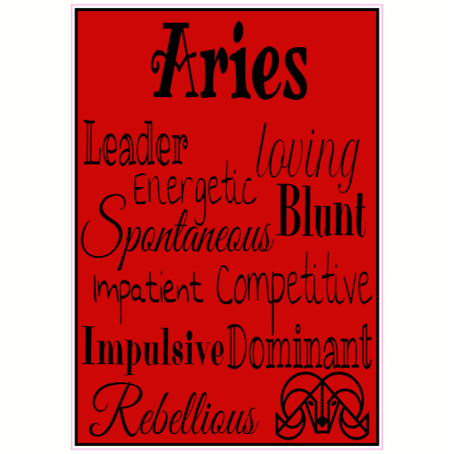 Aries Astrology Sticker | U.S. Custom Stickers