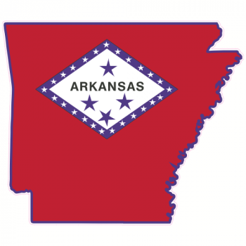 Arkansas Flag State Shaped Sticker | U.S. Custom Stickers